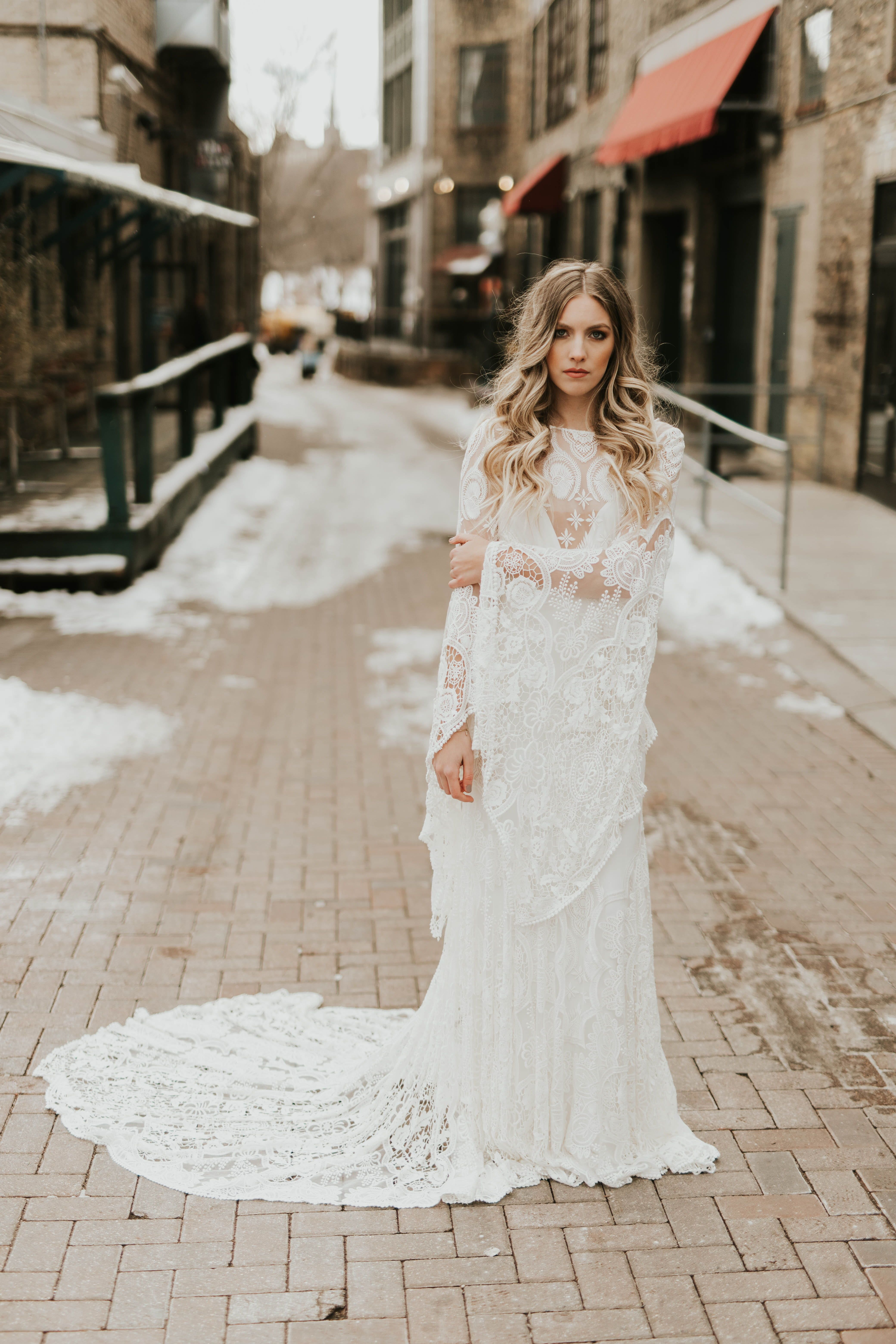 Sia By Rue De Seine Available At Minneapolis Dallas Denver Miami A Be Bridal Shop Lace Top Wedding Dress Wedding Dress Low Back Different Wedding Dresses
