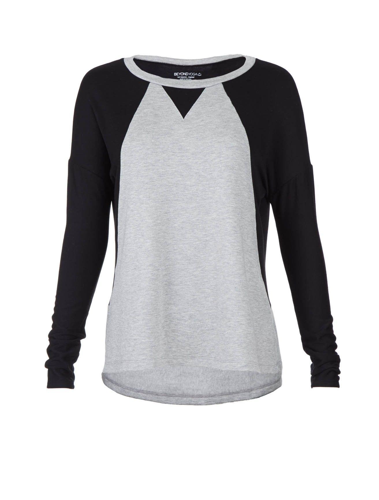 Long Sleeves Bamboo Fleece Raglan Pullover :: Women   Scoop NYC