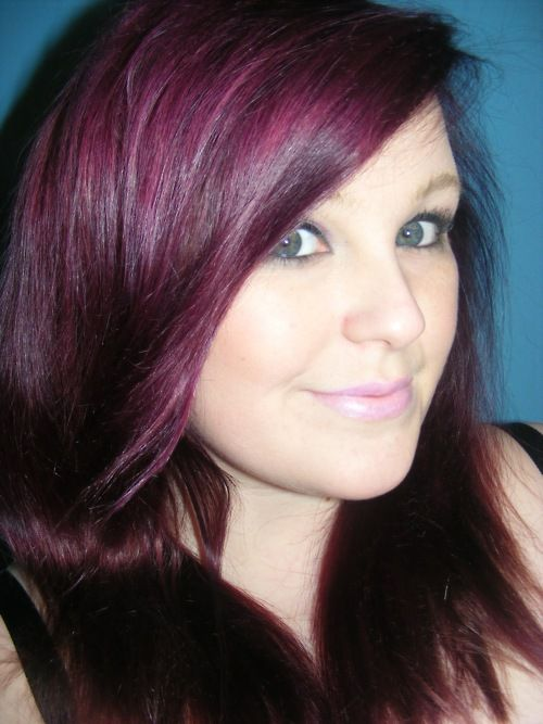 Purple Hair On Top Of Reddish Brown Violet Eggplant I M In Love With This Color Usually Don T Like Non Natural