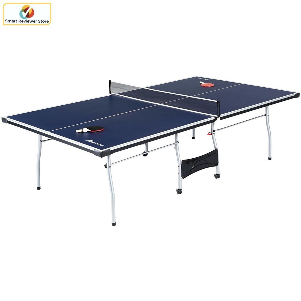 MD Sports 4-Piece Table Tennis Table | Ping pong table and Storage