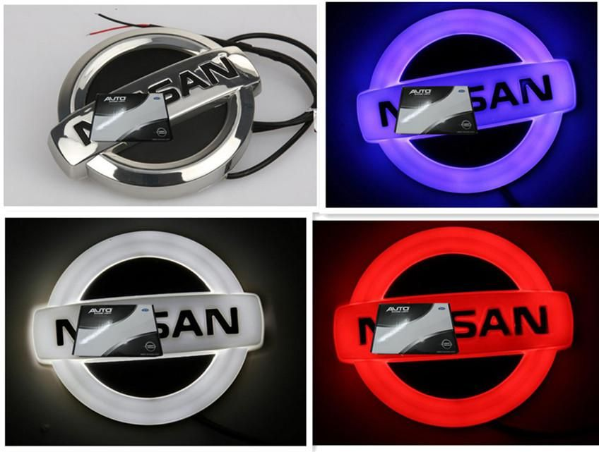4d Led Emblem For Nissan White Blue Red Color Nissan Logo Car