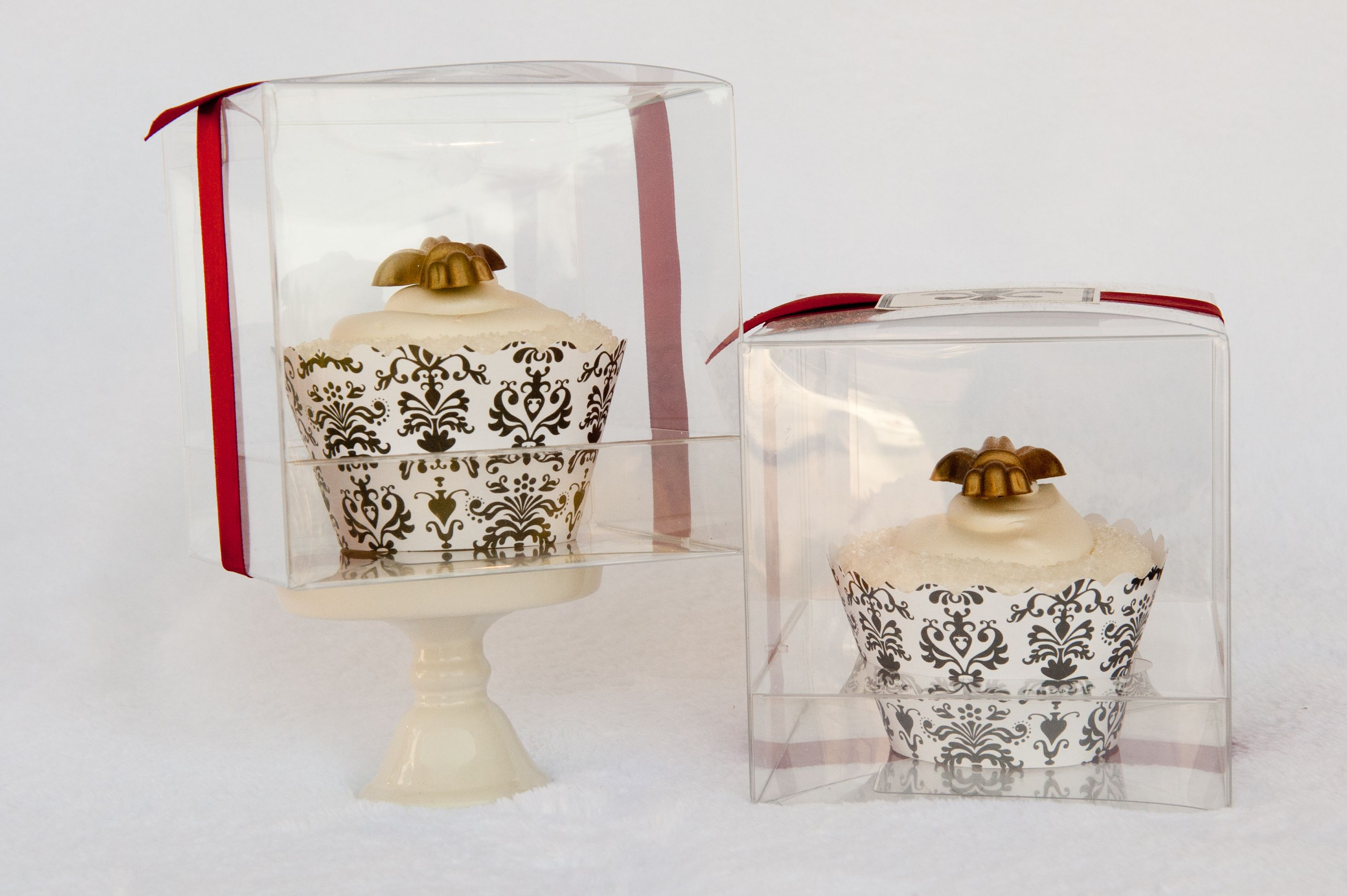 Clear Cupcake Boxes 3 x 3 for Favors | wedding | Pinterest | Cupcake ...