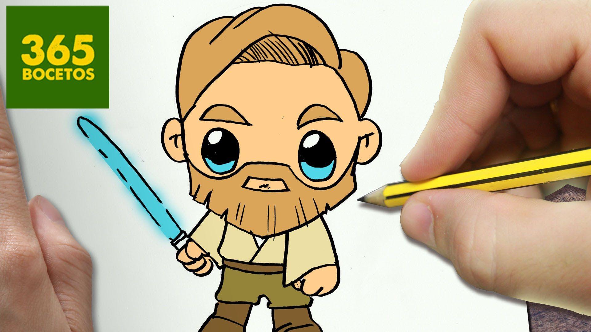 Como Dibujar Obi Wan Kenobi Kawaii Paso A Paso Dibujos Kawaii