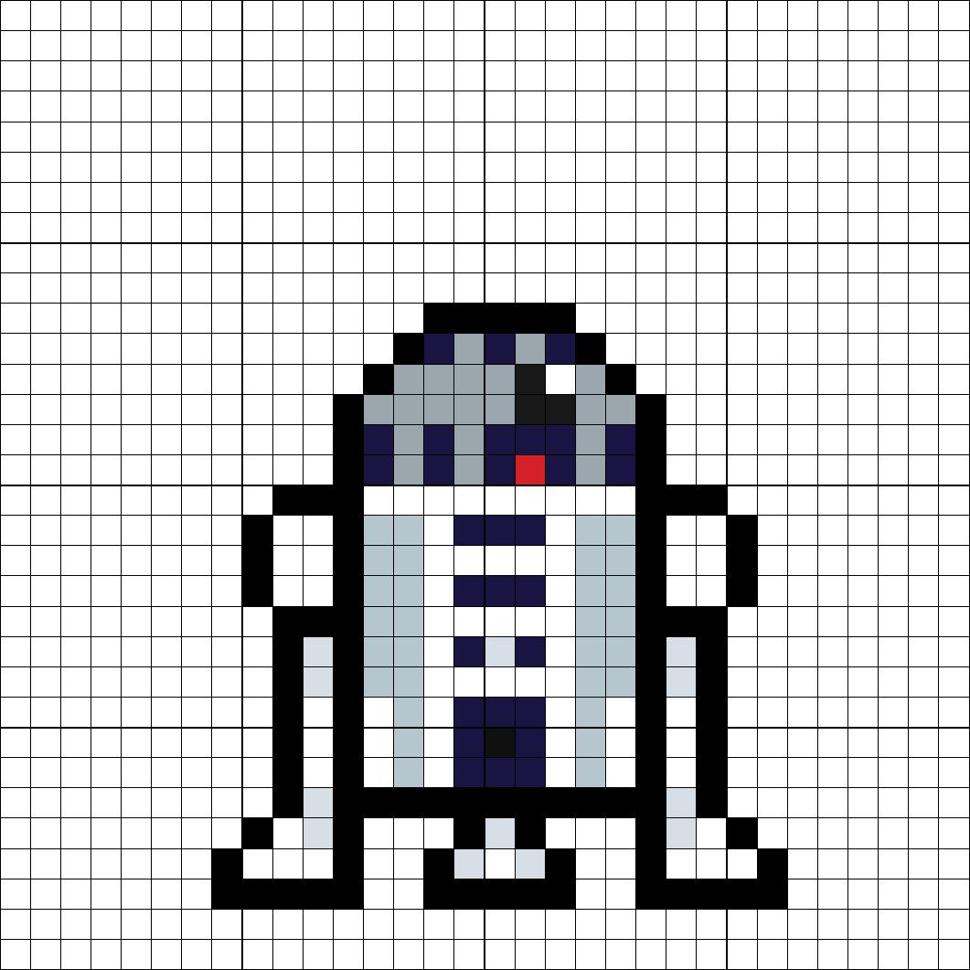 R2-D2 Perler Bead Pattern   Perler Star Wars   Pinterest   Guerra de ...