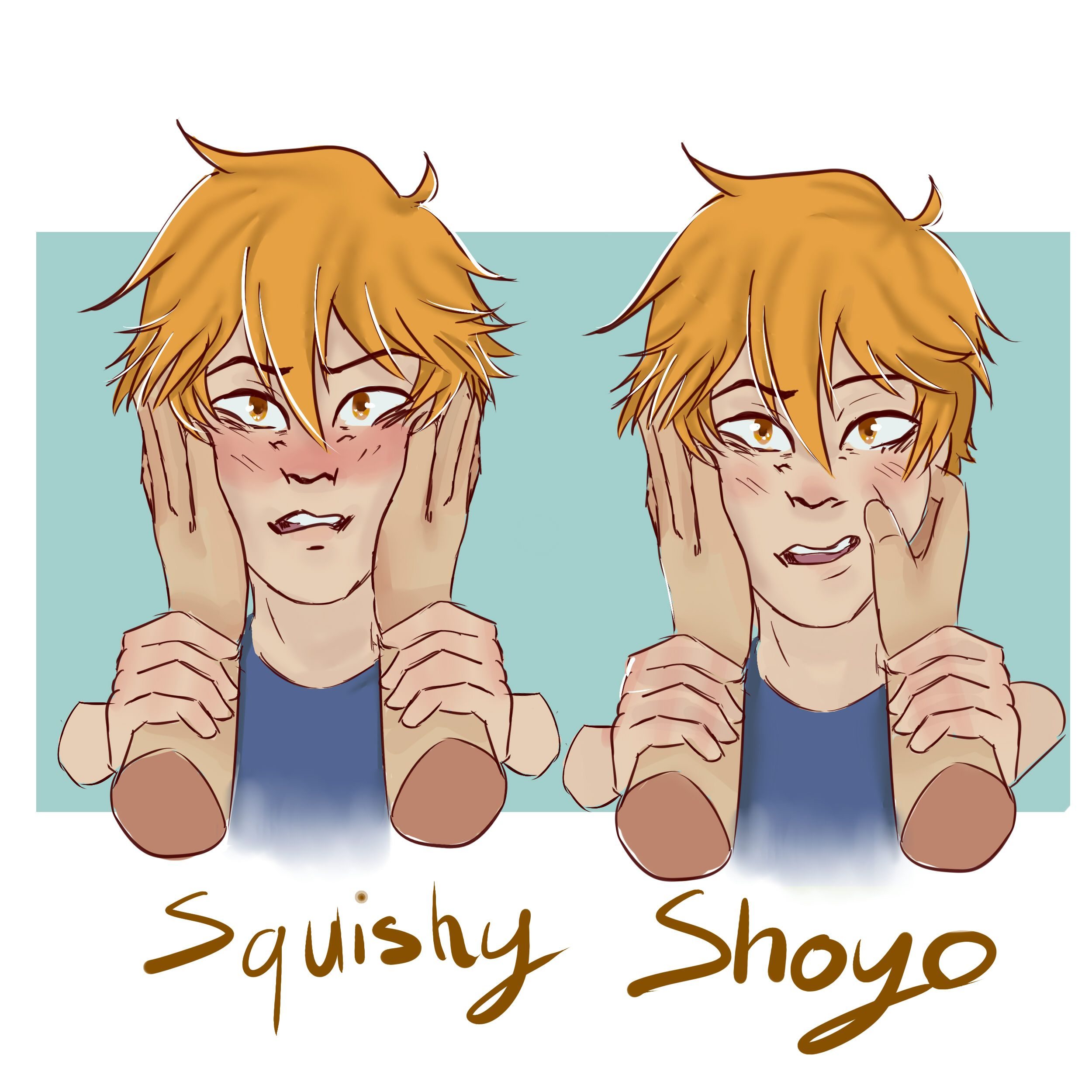 I had fun with that this morning x)   #anime #hinata #manga #elyxen #adorable #animemanga #mangaanime #pinch #squeeze #squish #squishy #haikyuu #hinatashouyou #hinatashouyo #haikyuufanart #hinatashoyo #haikyuuhinata #hinata_shouyo