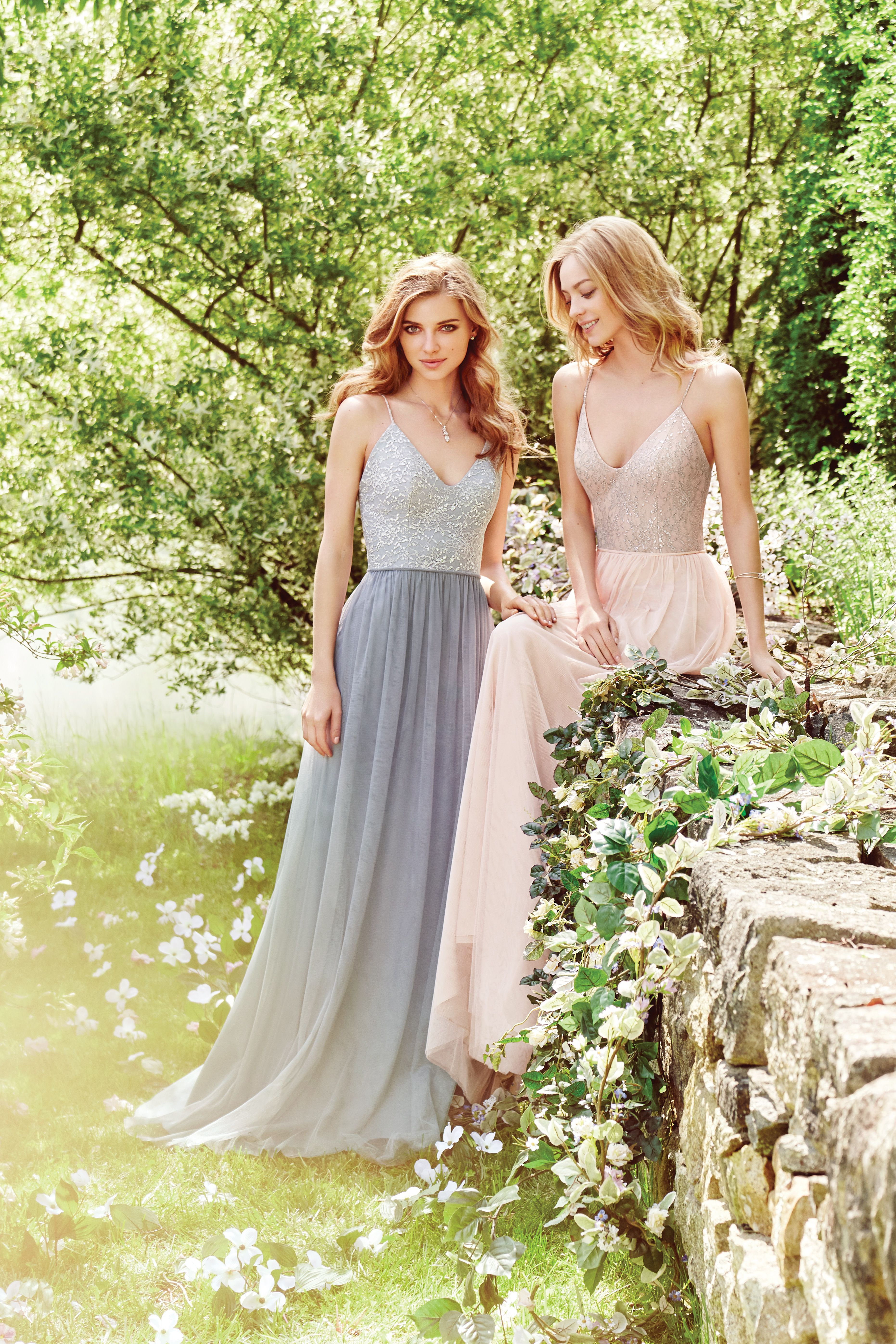 Nature wedding dress  Hayley Paige Occasions Fall  Style   Almond English net A