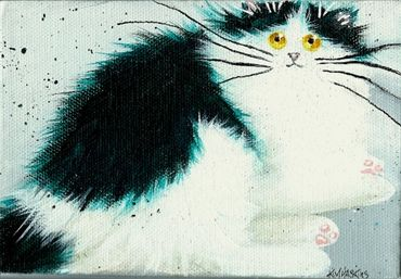 'Maggie' painting, Cat art by Kim Haskins