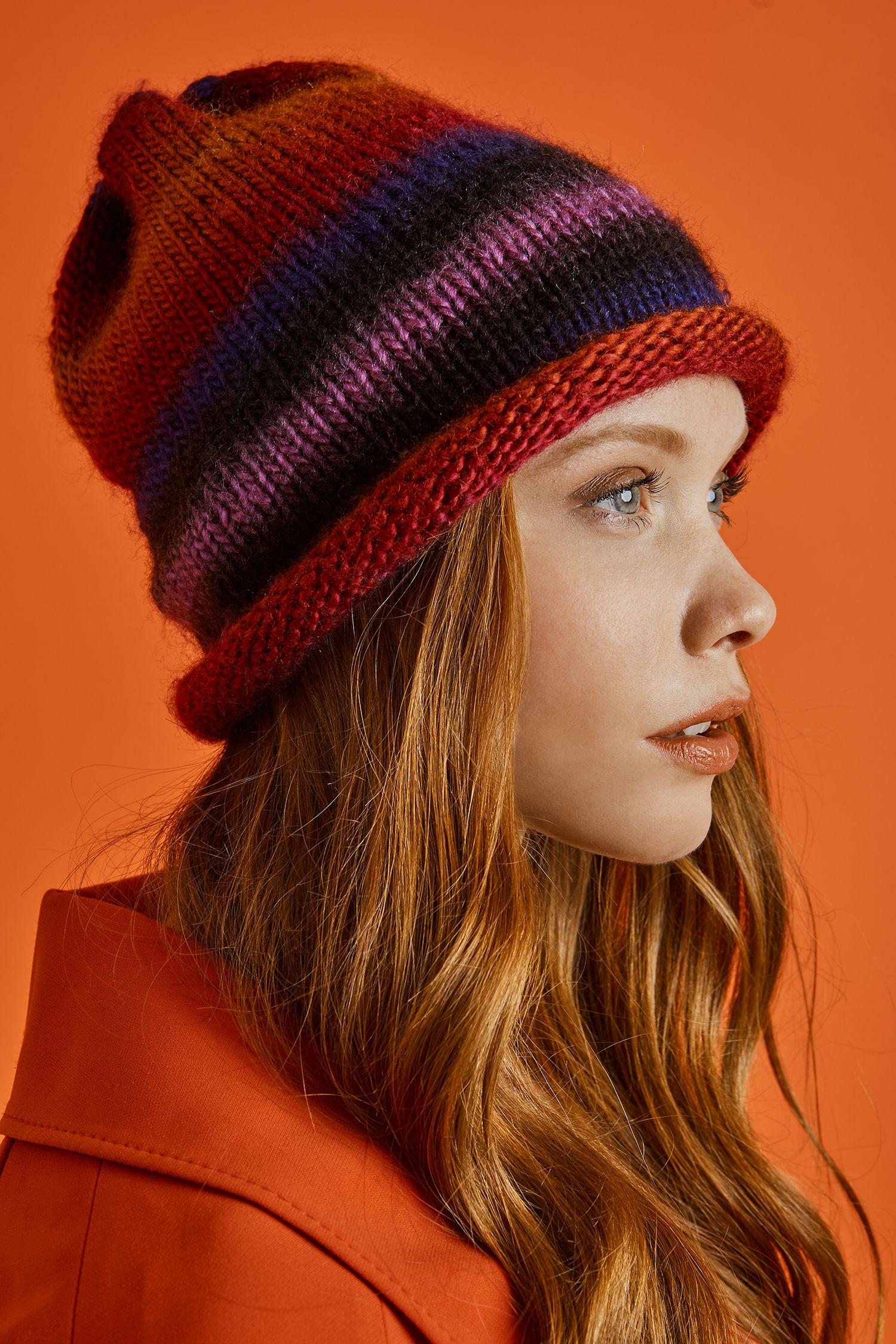5207e881ec0 Hip Slouch Hat (Knit) - Patterns - Lion Brand Yarn