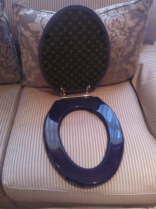 Louis Vuitton Toilet Seat.I Have Seen It All Louis Vuitton Toilet Seat Custom Made