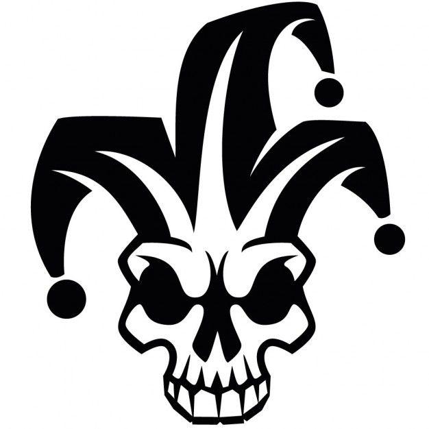 fde066fc48d Clown skull harlequin vector image