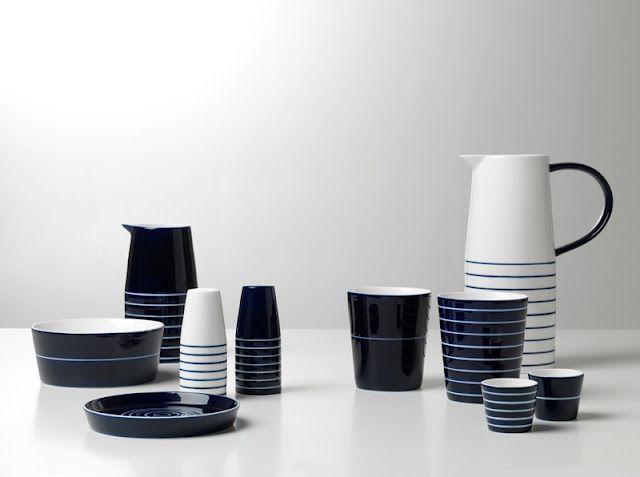 design house stockholm kills it with their cobalt and white ceramic collection - Dinnerware Design House Stockholm