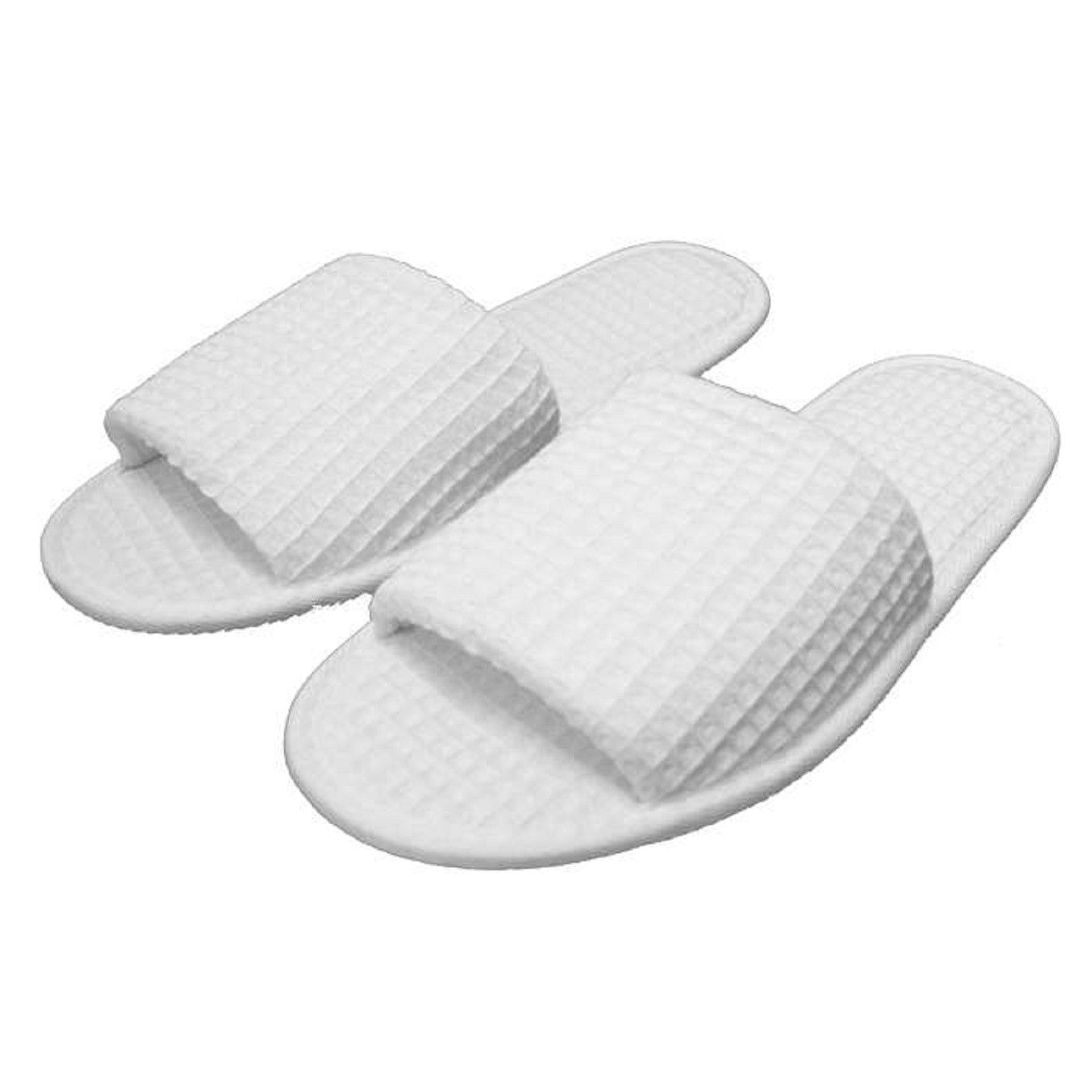 459044eb687228 PAIR OF WAFFLE OPEN TOE SLIPPERS - ONE SIZE FITS MOST - AVAILABLE IN 5  COLORS