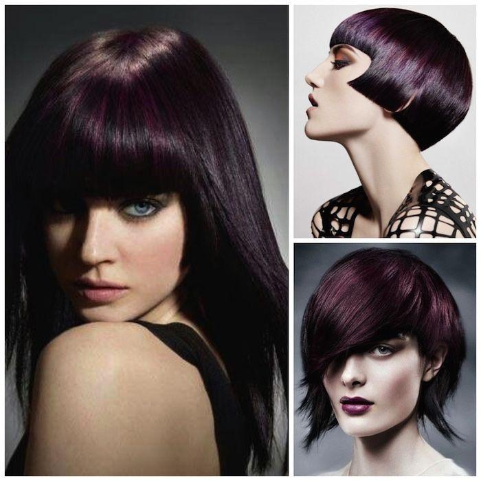 The shiny purple-black...