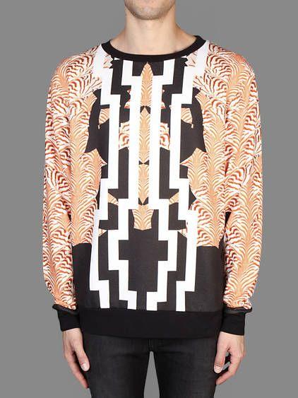 SS14 w/ Marcelo Burlon crew neck sweater with all over marcus plus zebra print