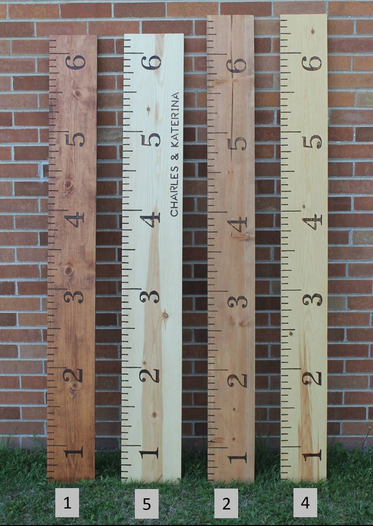 Growth Chart Ruler Growth Ruler Wooden Growth Chart Wood Growth