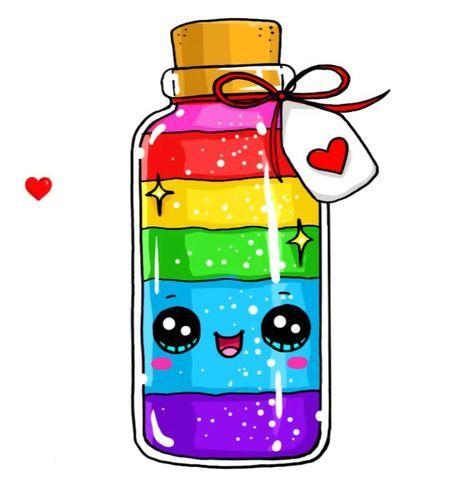 Colors Of Rainbow And Happiness Dessin Licorne Kawaii 365