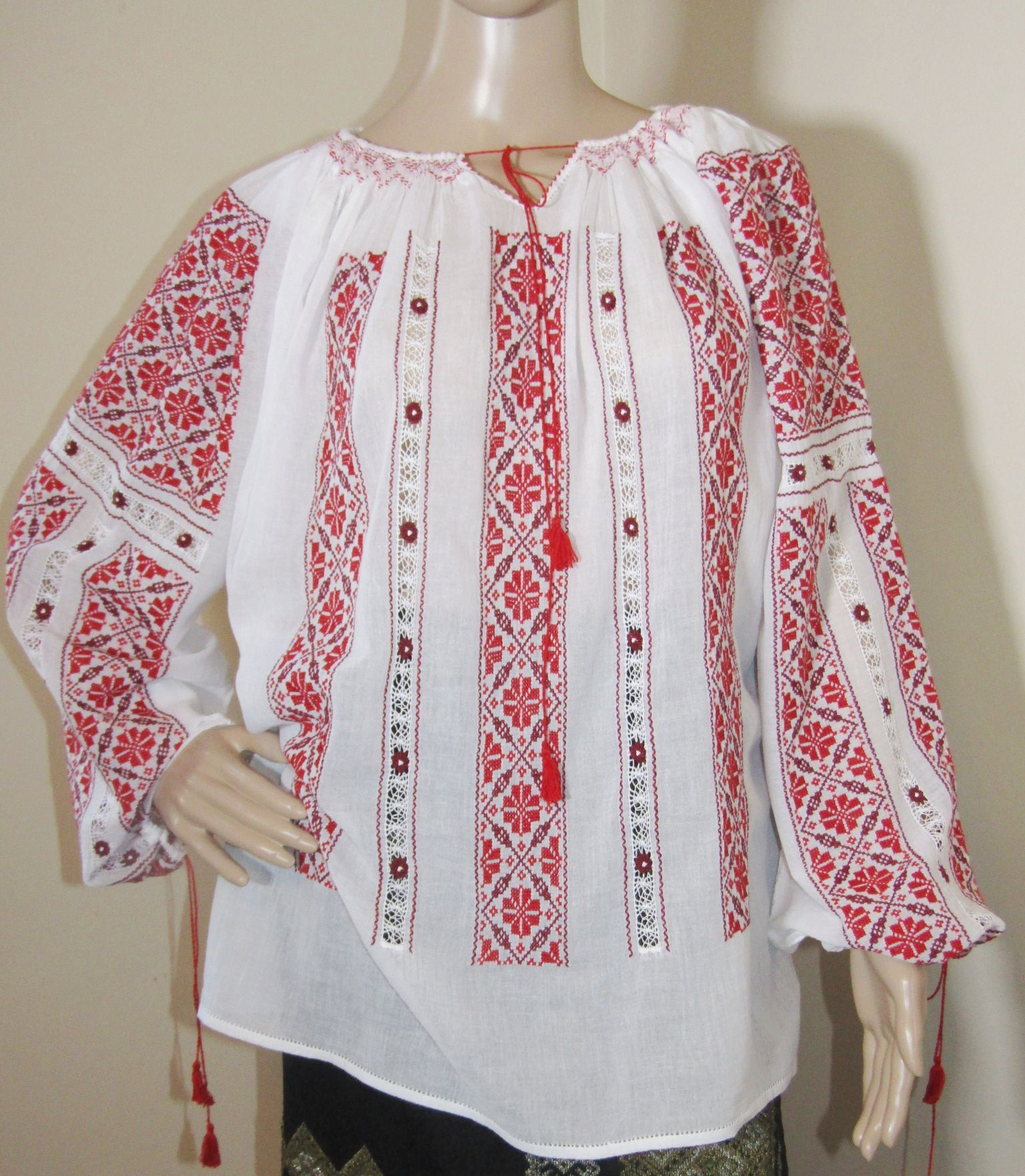 Hand embroidered Romanian dress Fairy