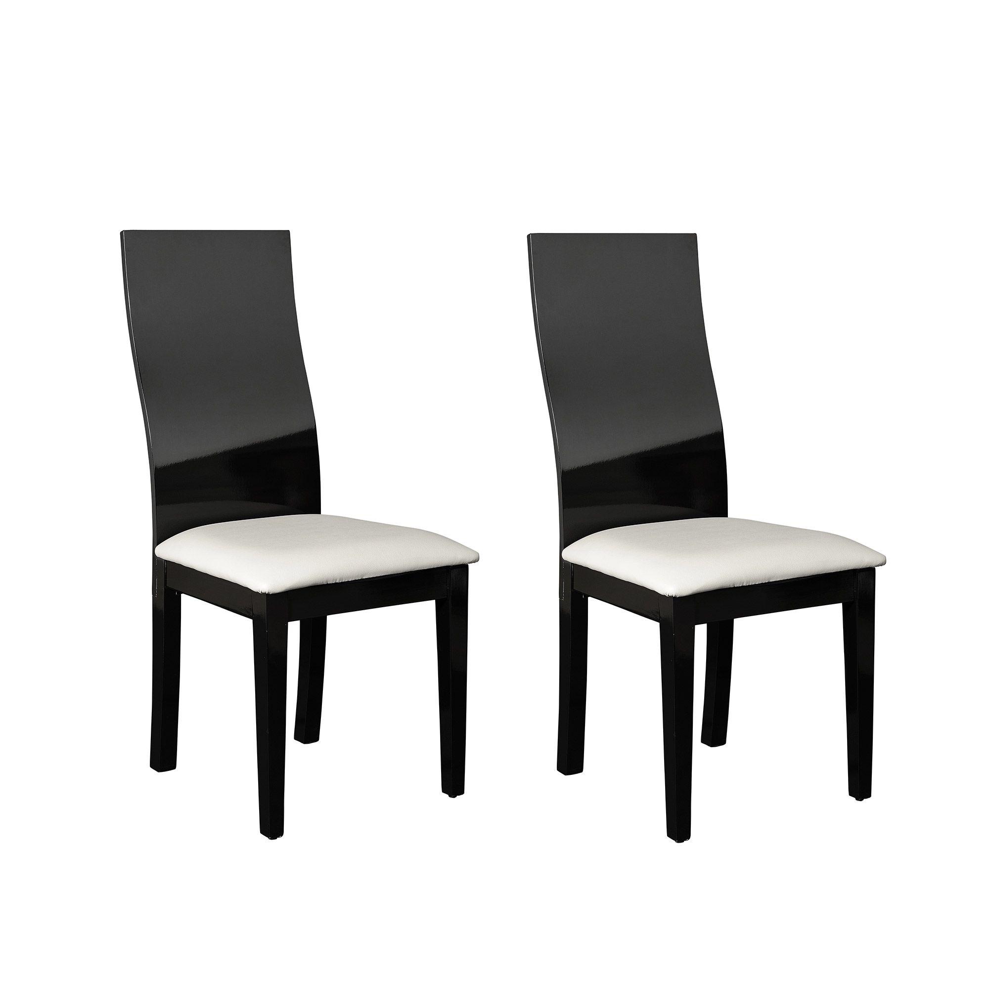 tourdissant chaise de salle a manger noir et blanc - Chaise En Bois Salle A Manger