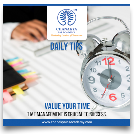 #DailyTips Value your time Time management is crucial to success.