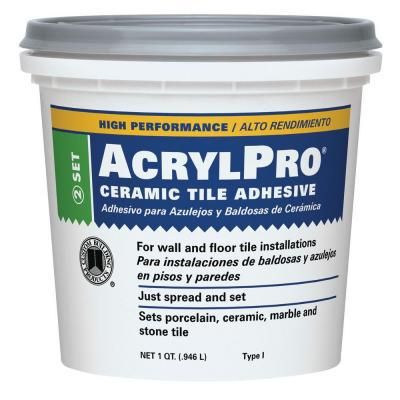 Ceramic Tile Adhesive 1 qt US Shipping Only Glass mosaic tiles