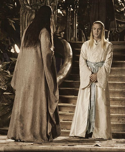 Celeborn and Galadriel passed over the mountains to Imladris, and there dwelt for many years; for Elrond was their kinsman, since he had early in the Third Age wedded their daughter Celebrían.