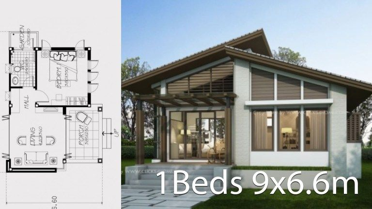 Small Home Design Plan 9x6 6m With One Bedroom Home Ideas Small House Design Home Design Plan Loft House Design