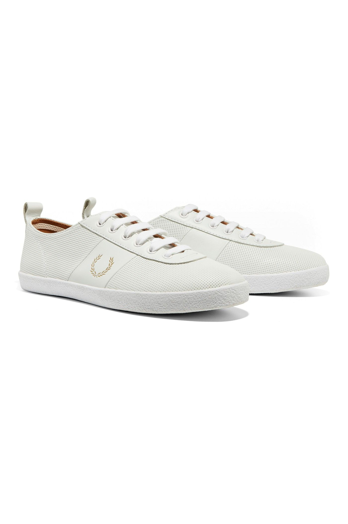 Fred Perry - Miles Kane Table Tennis Shoe Leather White  5ef82341363