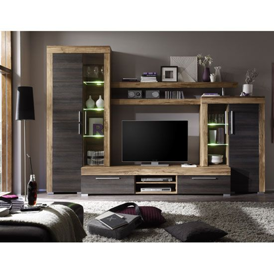 Living Room Furniture Walnut Wood boom living room furniture set in walnut and dark brown | living