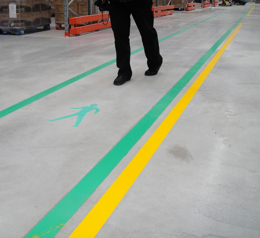 Osha Compliant Superior Mark Aisle Marking Tape To Mark