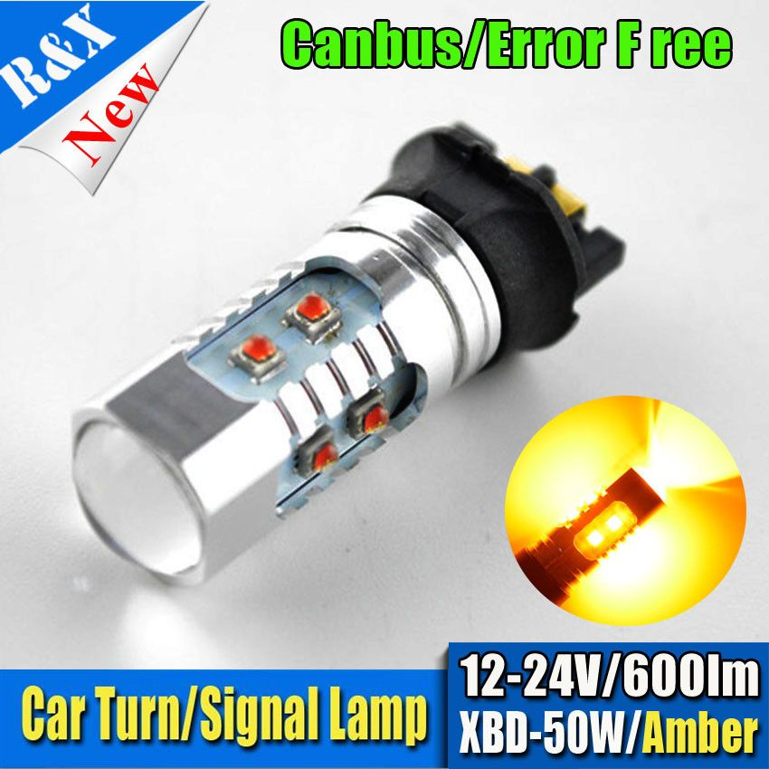 1pcs Xenon White Amber Pw24w Pwy24w C Ree 50w Led Bulbs For Audi Bmw Volkswagen Turn Signal Lights Or Daytime Running Lights With Images Led Bulb Car Lights Running Lights