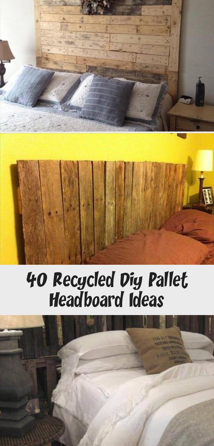 40 Recycled Diy Pallet Headboard Ideas - Pinokyo #palletheadboards