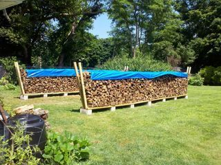 DIY Firewood rack using no tools:
