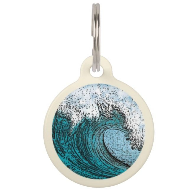 Surfin Wave Pet ID Tag collection of products for pets including