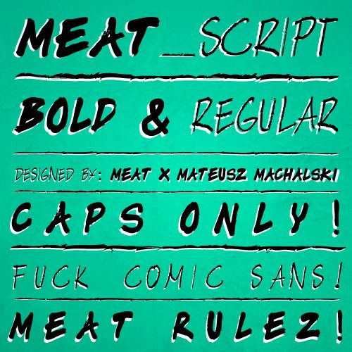 Image of MEAT - Typeface