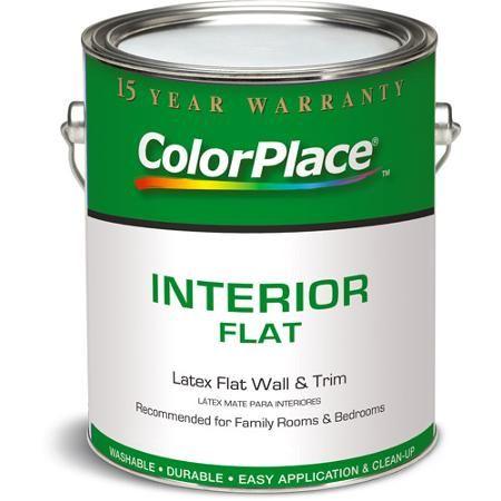 Colorplace Grab N Go Flat Interior Paint White 1 Gallon Walmart Com Flat Interior Interior Paint Flat Paint