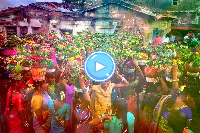 celebration by Indian crowd Bathukamma is a local festival of Teleng Bathukamma celebration by Indian crowd Bathukamma is a local festival of Teleng  14 Classical ArtInsp...