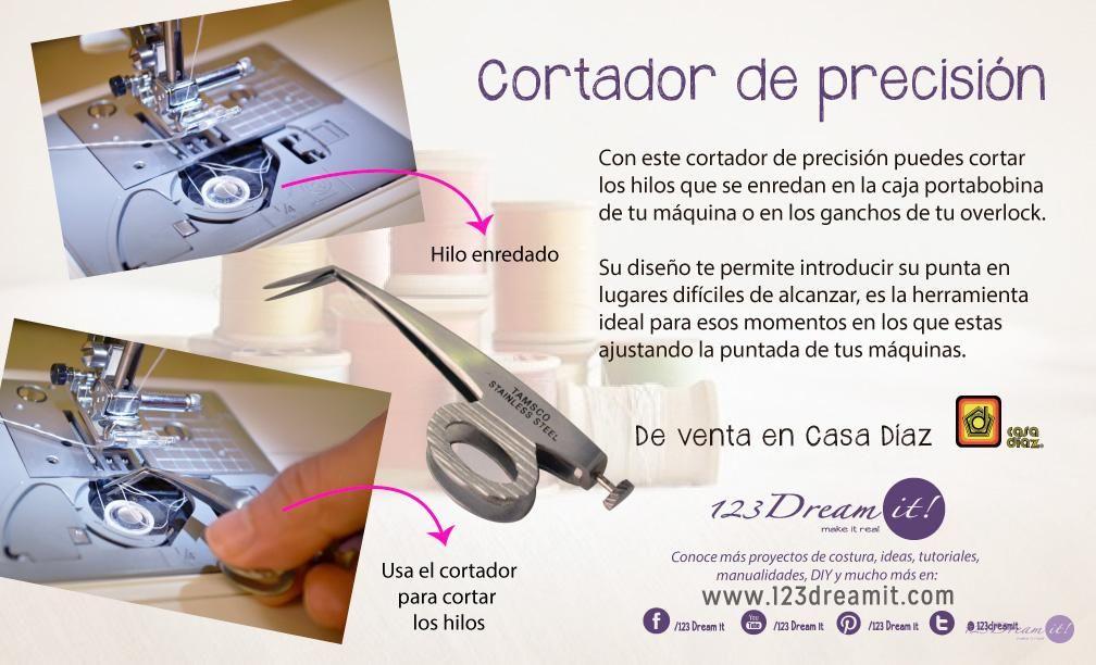 Este cortador por su tamaño y forma es ideal para cortar los hilos ...