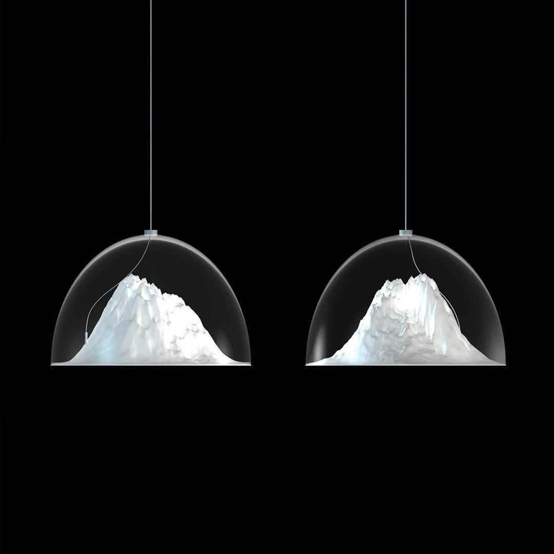 Hanging Snowy Mountain Tops 50 Surreal 50 Classy Undiscovered Designs Will Appear In Your Inbox If You Click The Lin Lamp Light Suspension Lamp Design