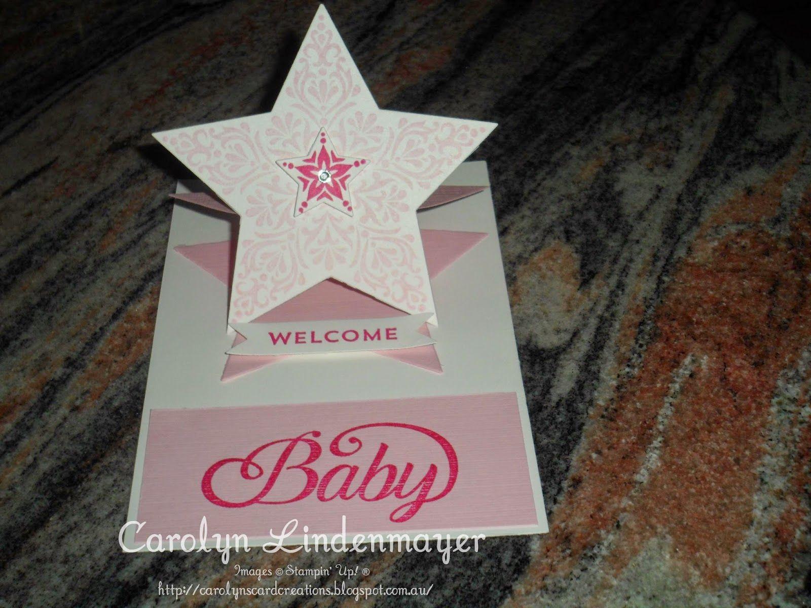 Carolyn's Card Creations: Welcome Baby Girl