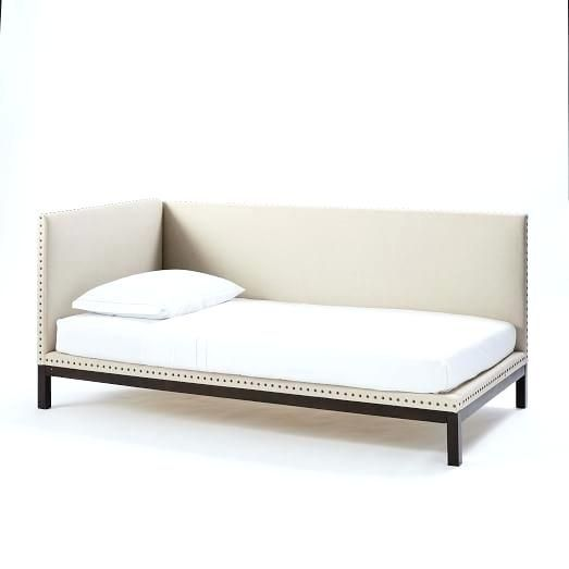 Upholstered Daybed Mattress Cover Linen Weave Natural Day Bed Twin