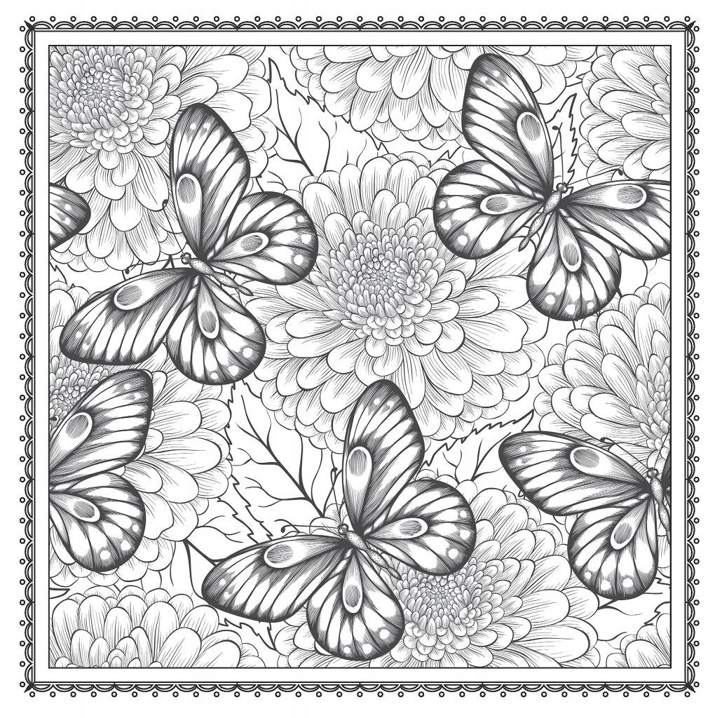 Floral Coloring Pages For Adults Best Coloring Pages For Kids Butterfly Coloring Page Animal Coloring Pages Flower Coloring Pages [ 1024 x 1020 Pixel ]