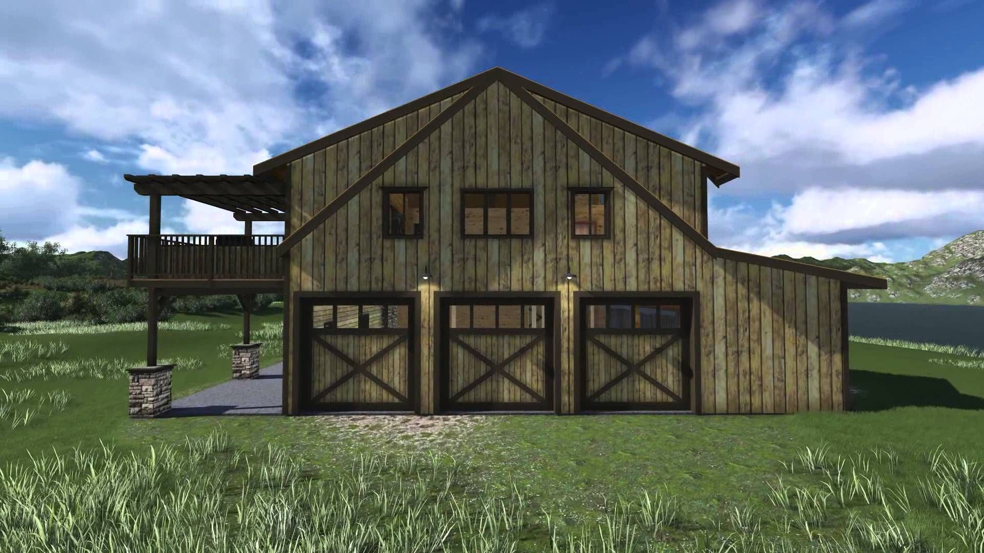 Small barndominium style homes barn home 64 39 plus for Small barn ideas