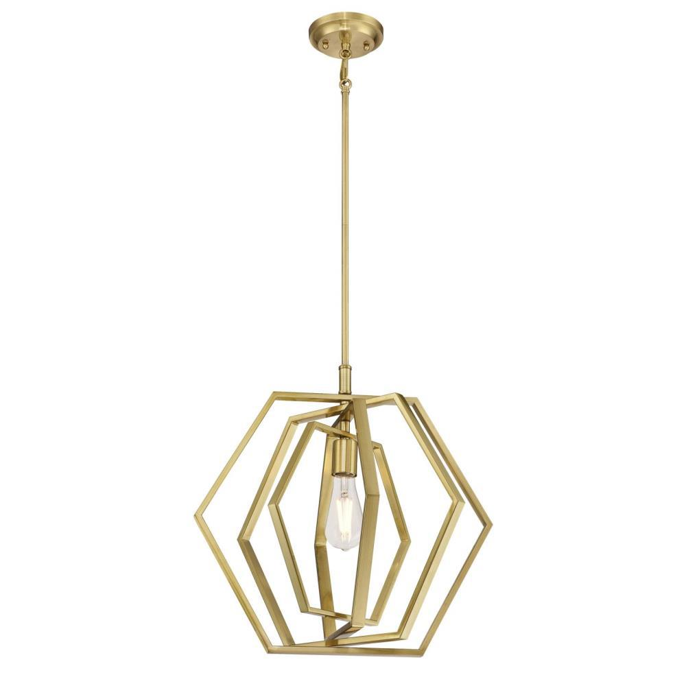 Westinghouse 1 Light Champagne Brass Pendant In 2019