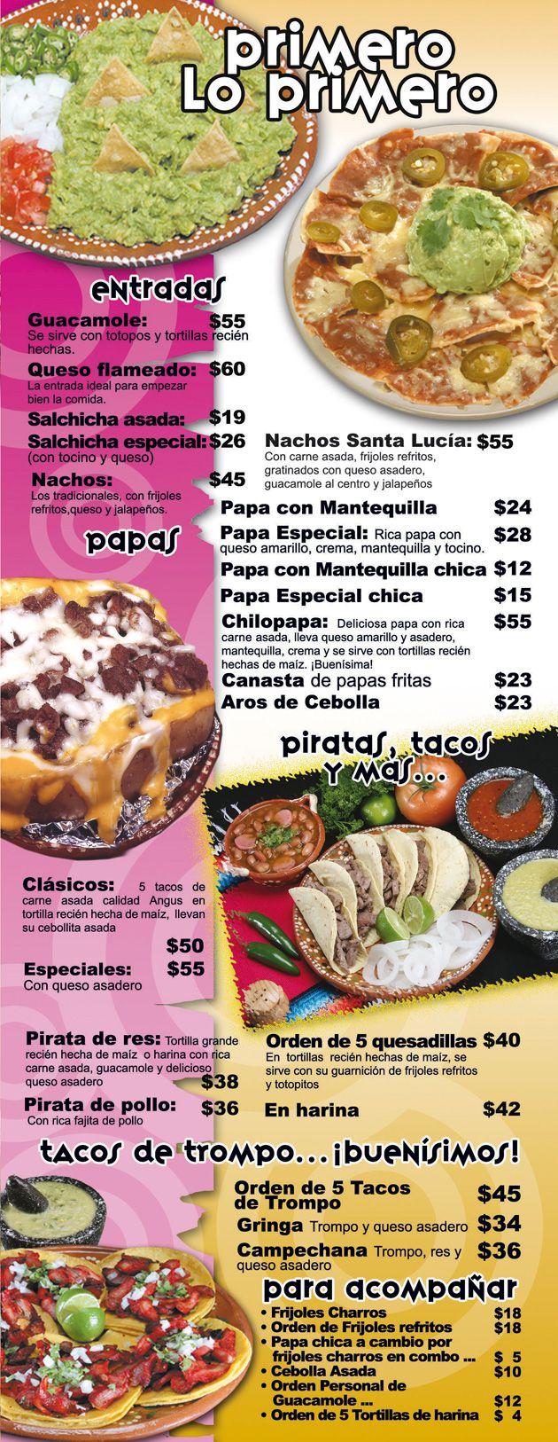 Platodeldía. Menu en español Spanish food unit, Spanish