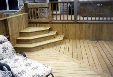 Etonnant Inground Pool Steps For Above Ground Pool Decks | Above Ground Pool And Deck  With Custom Stairs And Fencing