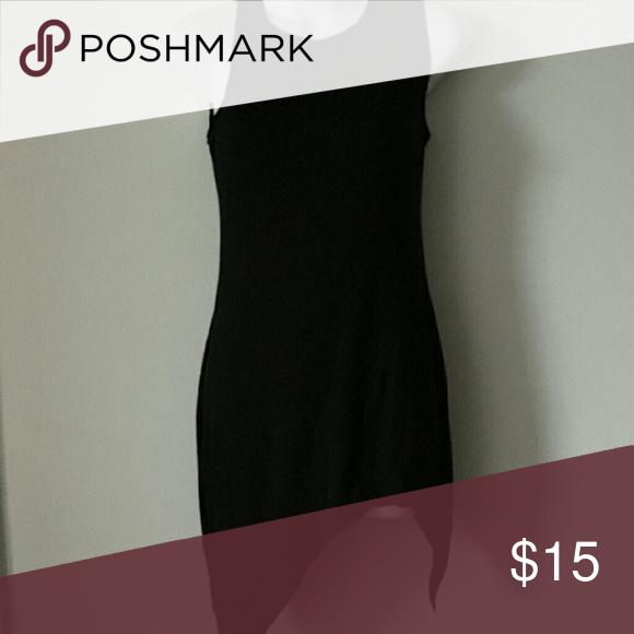 a546e579e9da Sexy Women Mini Dress SEXY SOLID TANK BASIC SCOOP NECK RACERBACK RIBBED  CASUAL