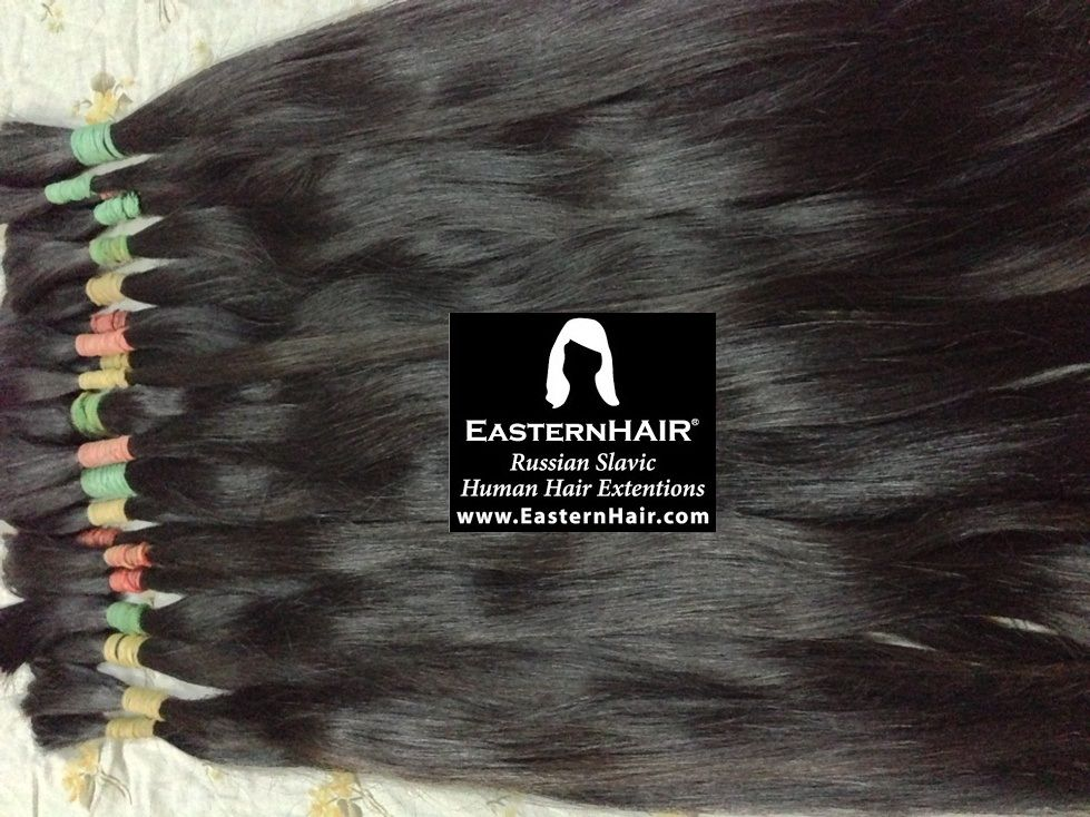 Virgin Silky Straight Hair, Russian Straight Hair, Natural Dark colors, Very Fine and Remy Cuticles