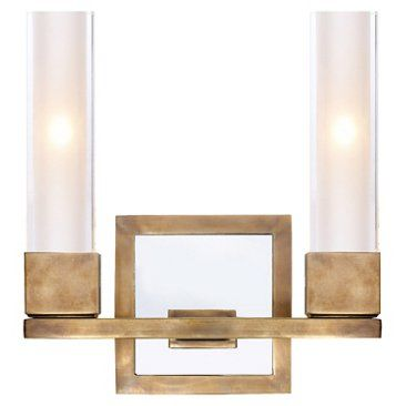 Check out this item at One Kings Lane! Kendal Double Sconce, Antiqued Brass