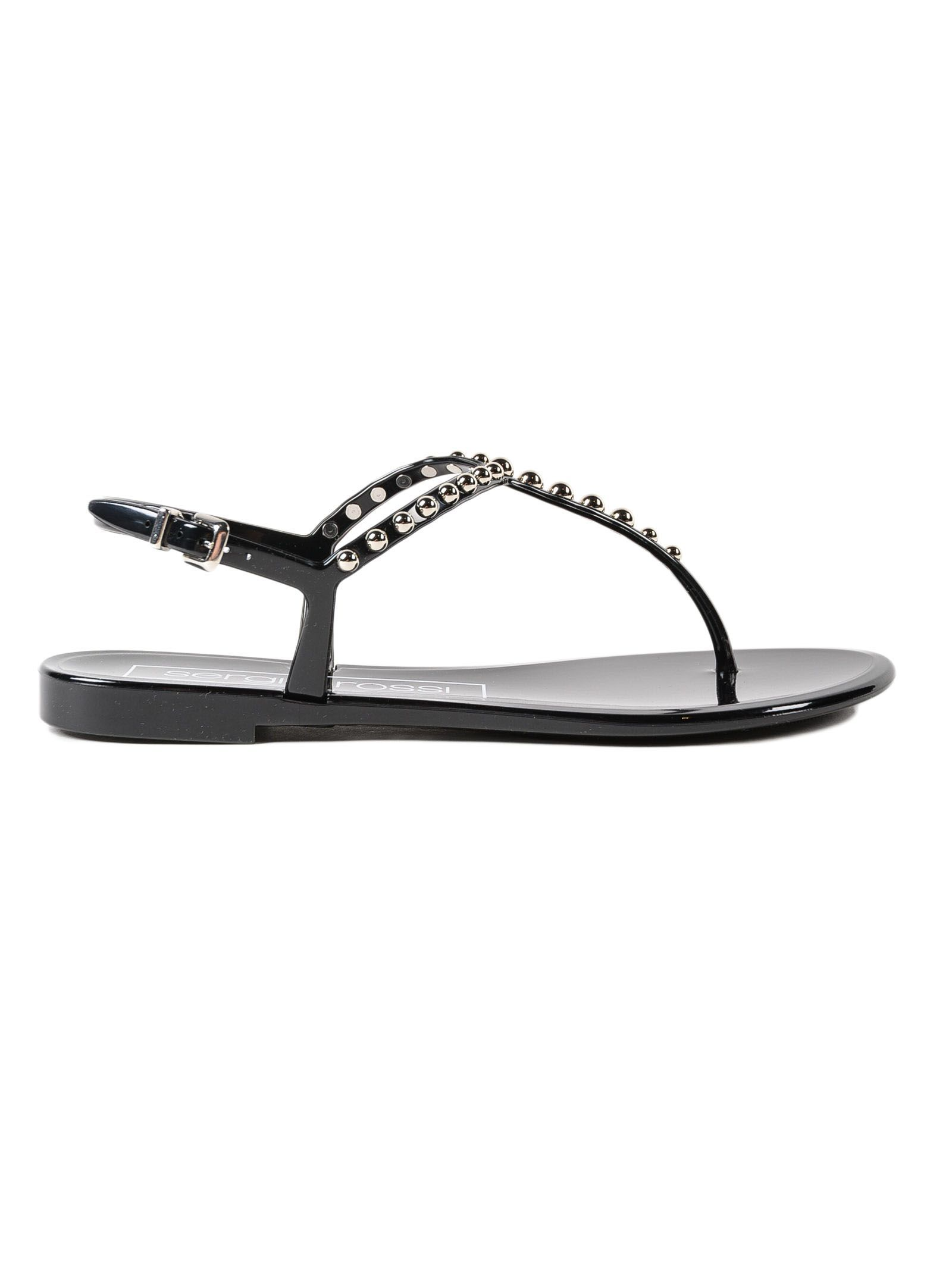 Outlet Release Dates Recommend Sergio Rossi Pvc+studs Flat Sandal Sale Low Price Outlet Nicekicks 1N48yMndKI
