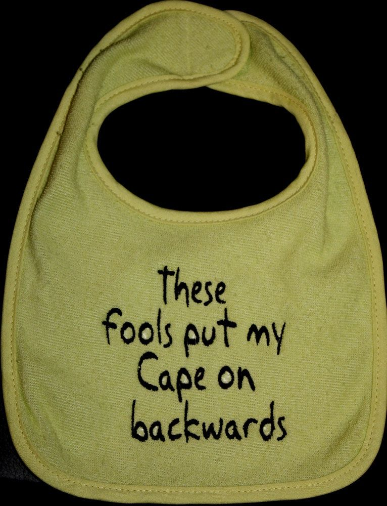 Embroidered Bib for BabyBackwards Cape by Babies2Bowwows on Etsy
